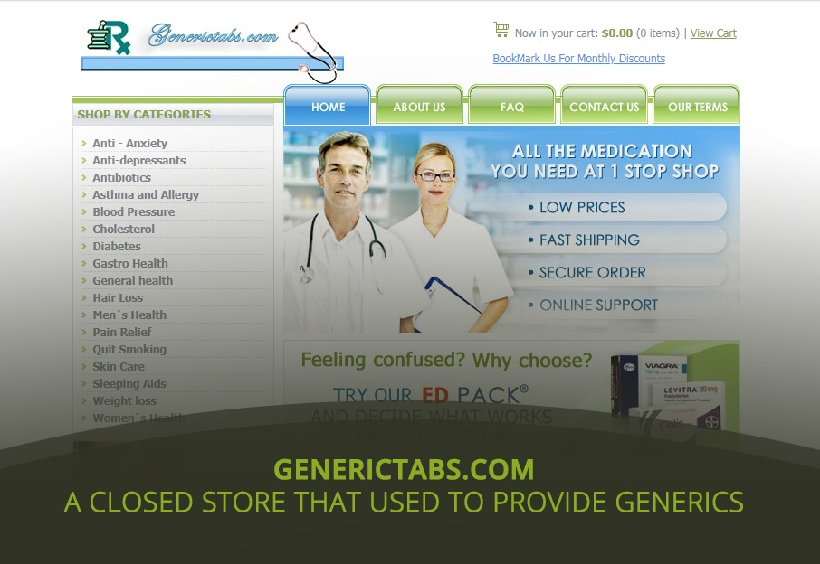 Generictabs com Review – A Closed Store that Used to Provide